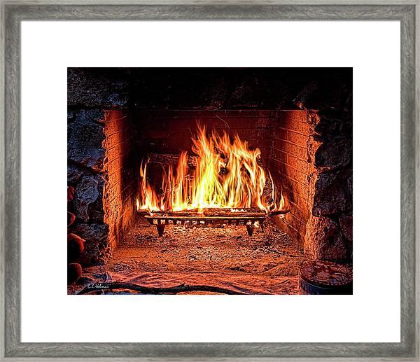 A Warm Hearth Framed Print