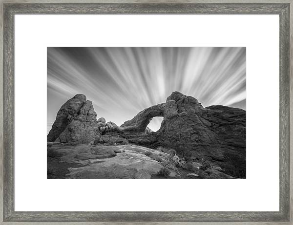 A Window To The Sky Framed Print