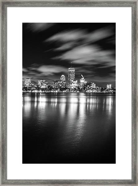 A Windy Night In Boston Framed Print