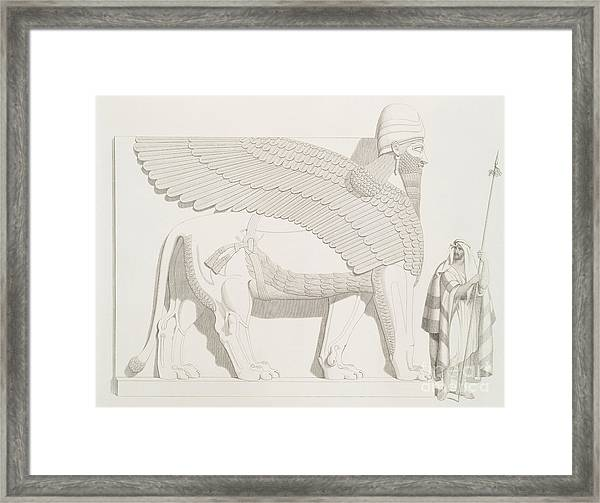 A Winged Human-headed Lion From Nimroud Framed Print