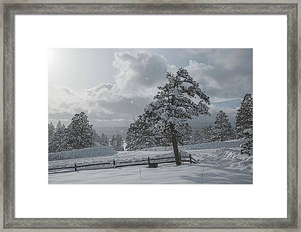 Framed Print featuring the photograph A Winter Storm In Pagosa by Jason Coward