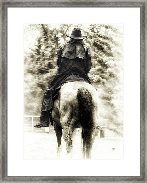 A Woman And A Horse  Framed Print by Steven Digman