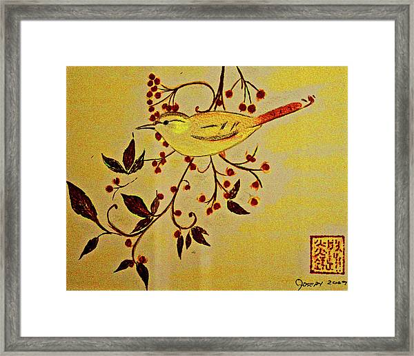 A Wren - In Pastel  Framed Print