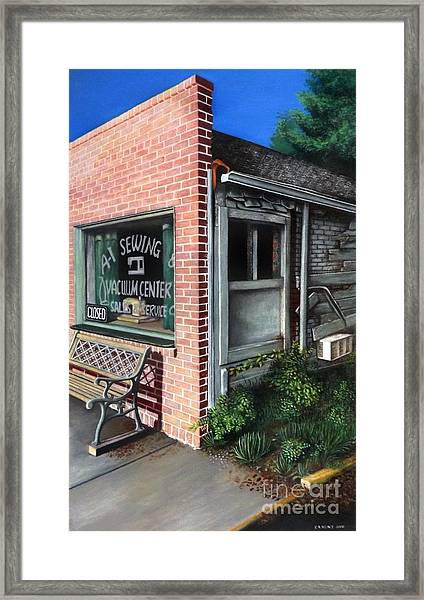 A1 Sewing Framed Print