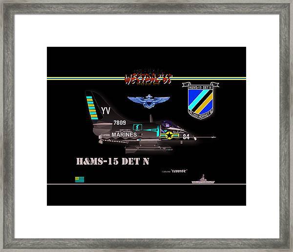 A4-c Skyhawk Vsf Framed Print