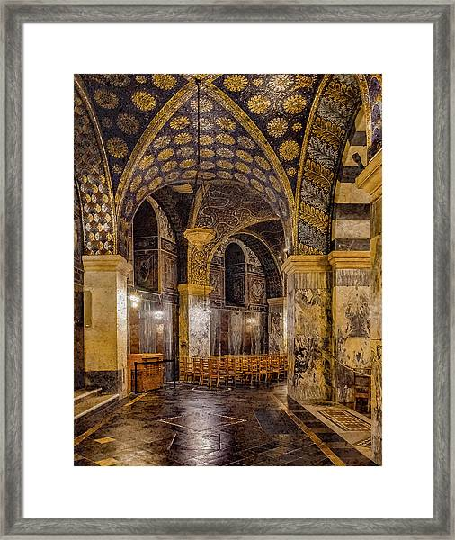 Framed Print featuring the photograph Aachen, Germany - Cathedral Ambulatory by Mark Forte
