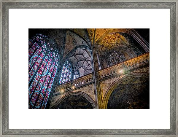 Framed Print featuring the photograph Aachen, Germany - Cathedral - Nikolaus-michaels Chapel by Mark Forte