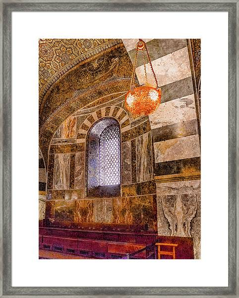 Framed Print featuring the photograph Aachen, Germany - Cathedral - Upper Gallery by Mark Forte