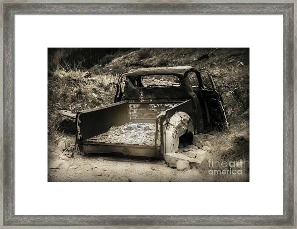 Framed Print featuring the photograph Abandonded Treasure by Scott and Amanda Anderson