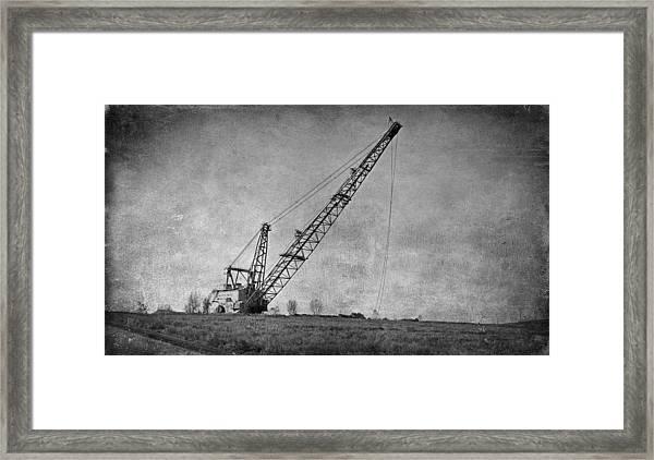 Abandoned Dragline Framed Print