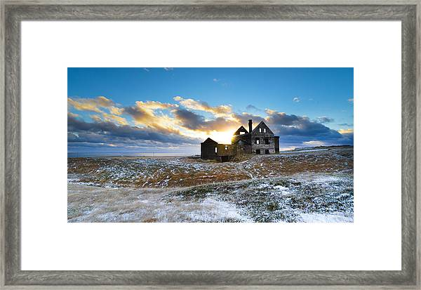 Abandoned Farm On The Snaefellsnes Peninsula Framed Print