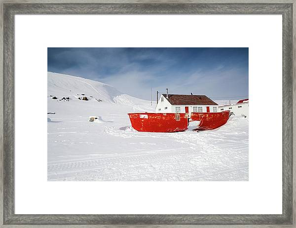 Abandoned Fishing Boat Framed Print
