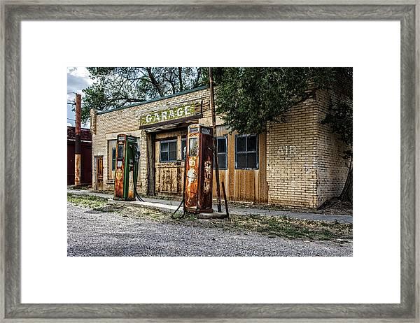 Abandoned Garage Framed Print