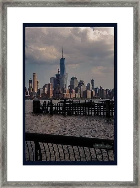 Abandoned Hoboken Pier Framed Print