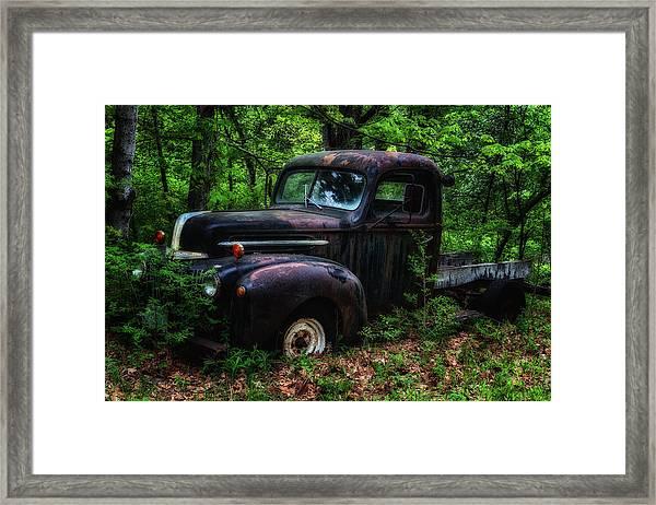 Abandoned - Old Ford Truck Framed Print
