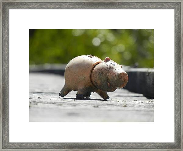 Abandoned On The Boardwalk Framed Print