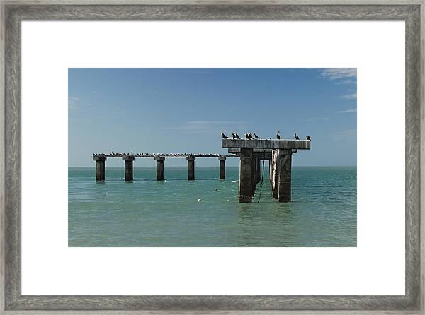 Abandoned Pier Framed Print
