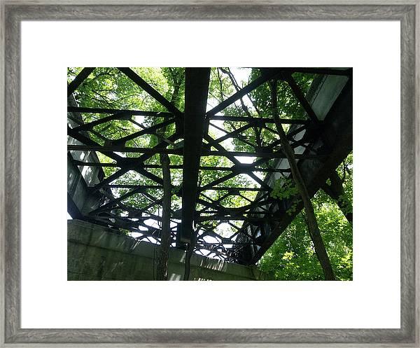Abandoned Railroad Bridge Framed Print