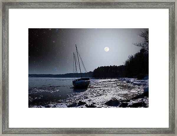 Abandoned Sailboat Framed Print