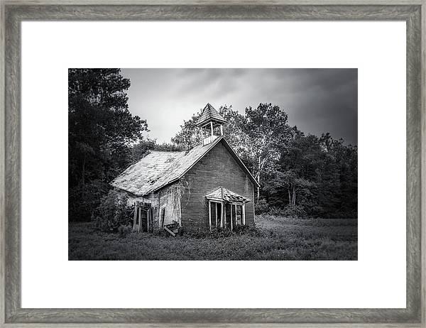 Abandoned Schoolhouse Framed Print