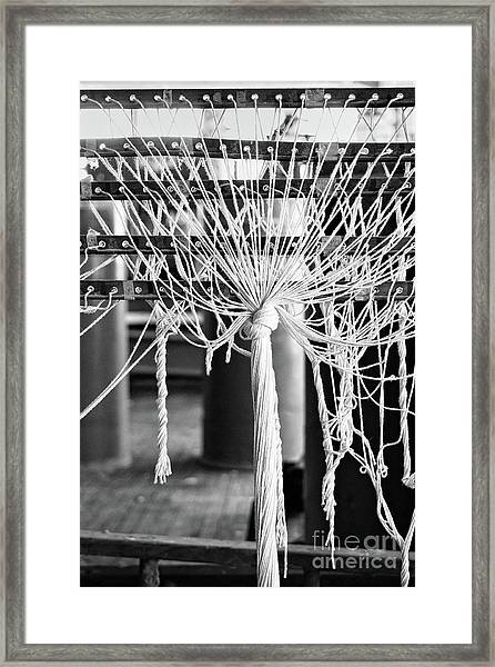 Abandoned Textile Mill, Lewiston, Maine  -48692-bw Framed Print