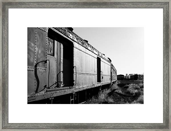 Abandoned Train Cars Framed Print