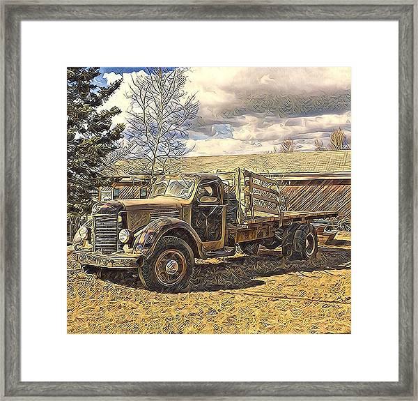 Abandoned Vehicle Canol Project 1945 Framed Print