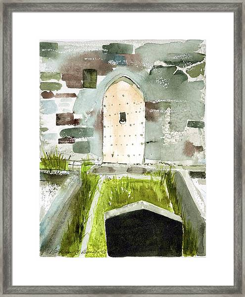Abbey Door Framed Print