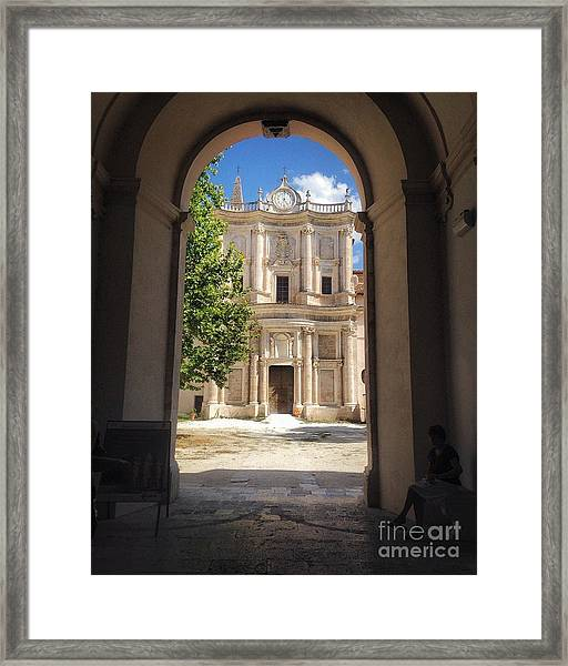Abbey Of The Holy Spirit At Morrone In Sulmona, Italy Framed Print