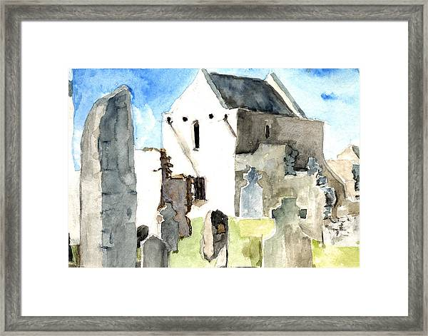Abbey Watercolor Framed Print