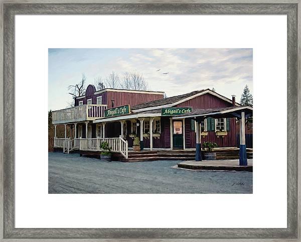 Abigail's Cafe - Hope Valley Art Framed Print