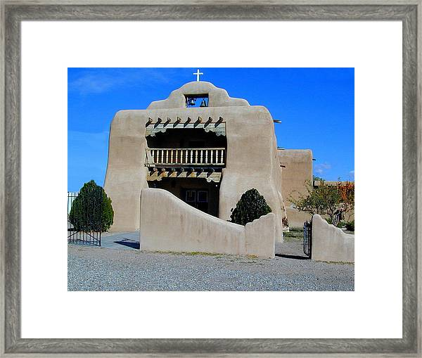 Framed Print featuring the photograph Abiquiu Church Number 1 by Joseph R Luciano