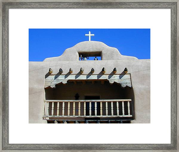 Framed Print featuring the photograph Abiquiu Church Number 2 by Joseph R Luciano