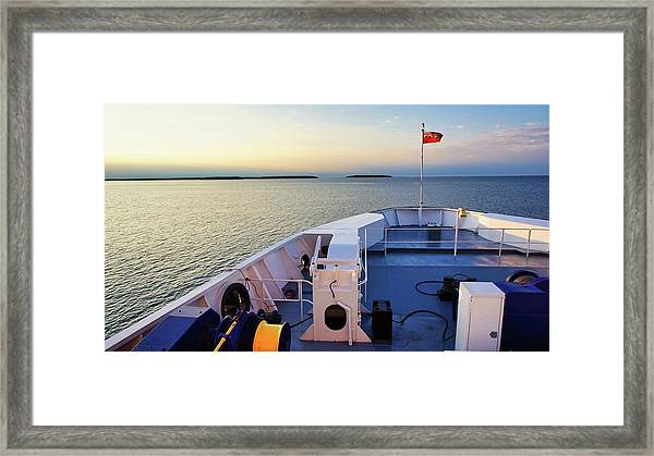 Aboard The Chi-cheemaun Framed Print