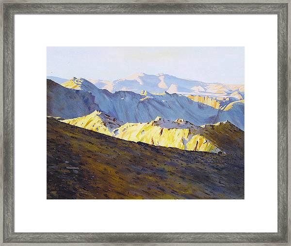 Above Bighorn Framed Print