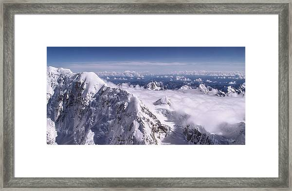 Above Denali Framed Print