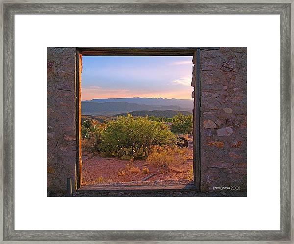 Above Lajitas Framed Print