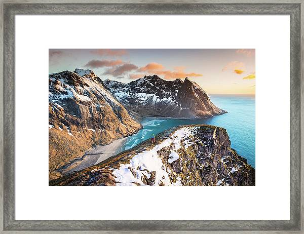 Above The Beach Framed Print