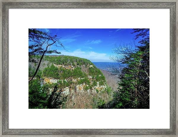 Above The Canyon Framed Print