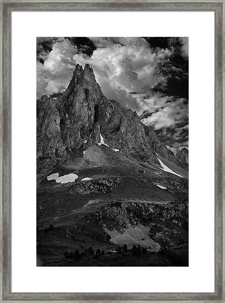 Above The Claree Valley Framed Print