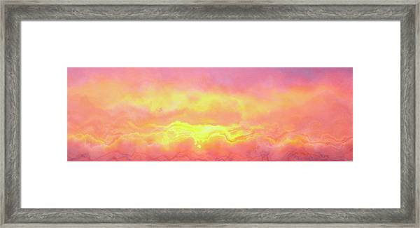 Above The Clouds - Abstract Art Framed Print