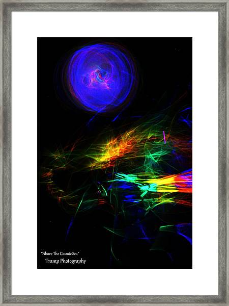 Above The Cosmic Sea Framed Print