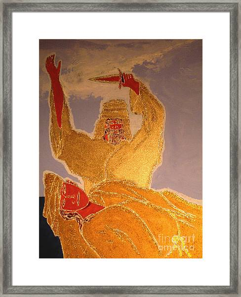 Abraham And Isaac Framed Print by Daniel Henning