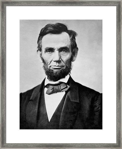 Abraham Lincoln -  Portrait Framed Print