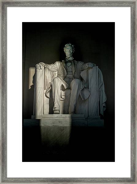 Abraham Lincoln And The Current State Of Affairs Framed Print