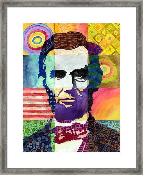 Abraham Lincoln Portrait Study Framed Print