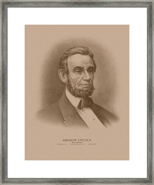 Abraham Lincoln - Savior Of His Country Framed Print