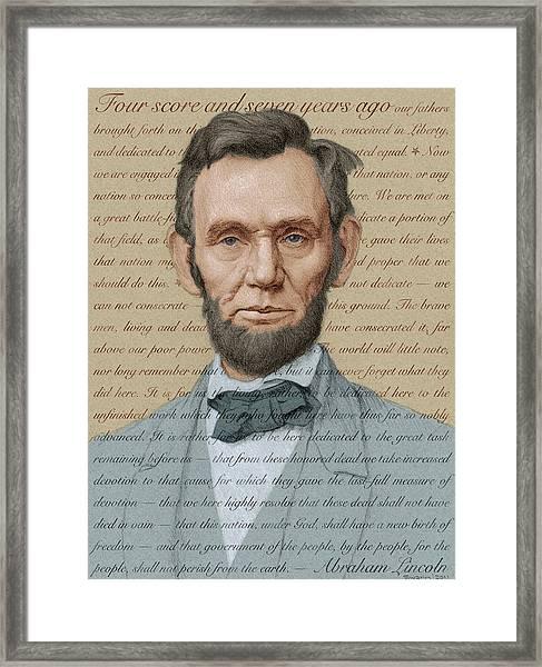 Abraham Lincoln - Soft Palette Framed Print