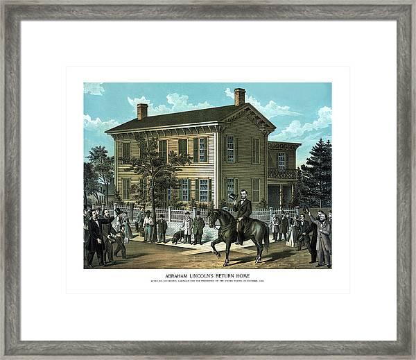 Abraham Lincoln's Return Home Framed Print