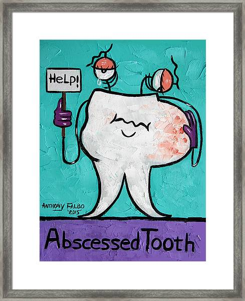 Abscessed Tooth Framed Print